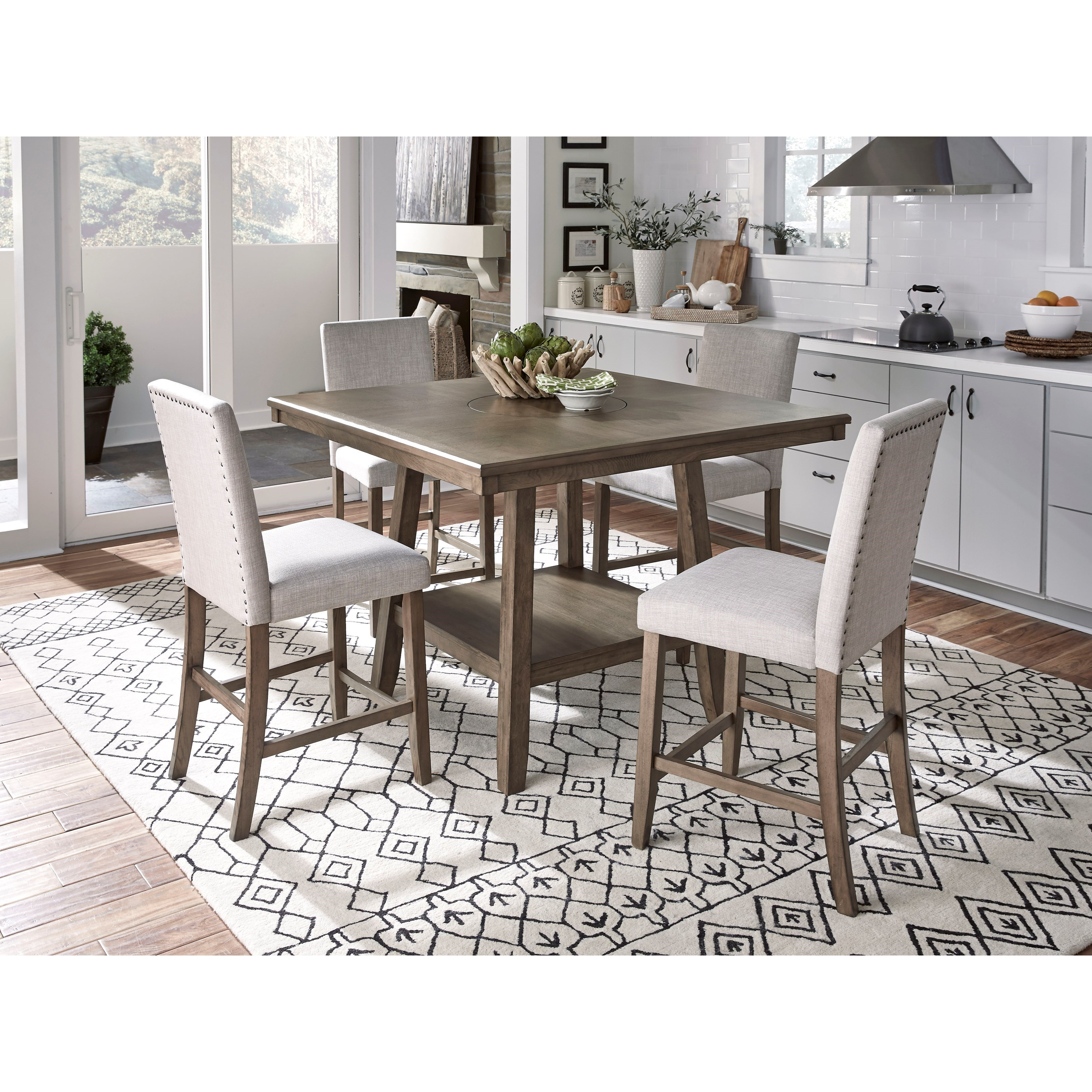 Standard Furniture Halden Transitional 5 Piece Counter Height Dining Set Royal Furniture Dining 5 Piece Sets