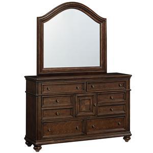 Standard Furniture Heritage Dresser and Mirror Combination