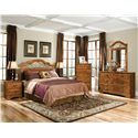 Standard Furniture Hester Heights Full/Queen Panel Headboard - Shown with Coordinating Night Stand, Chest, and Dresser with Mirror Combination