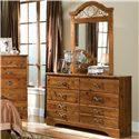 Standard Furniture Hester Heights Dresser and Mirror Combination - Item Number: 61168+59
