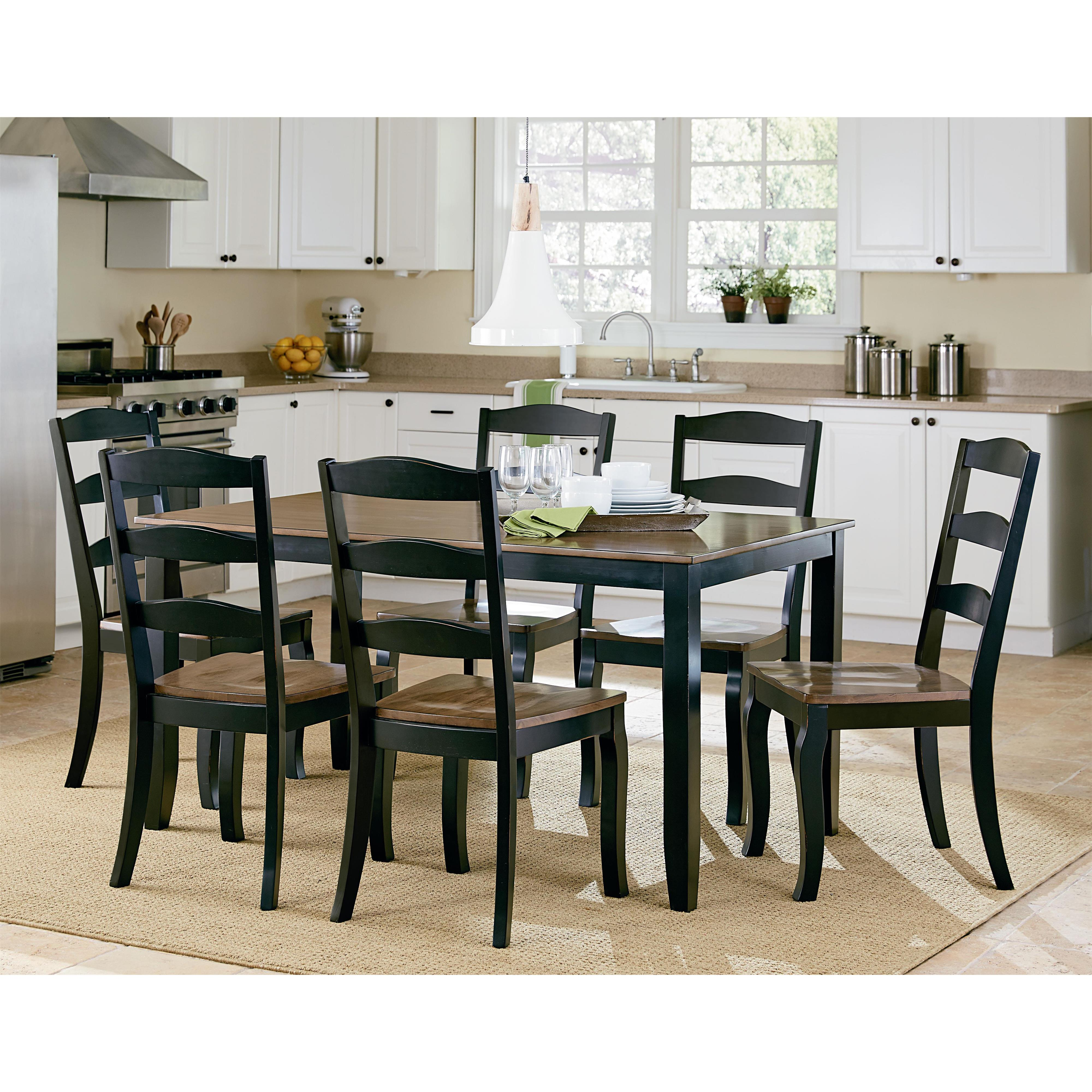 Standard Furniture Highland Black Table and Chair Set      - Item Number: 16542