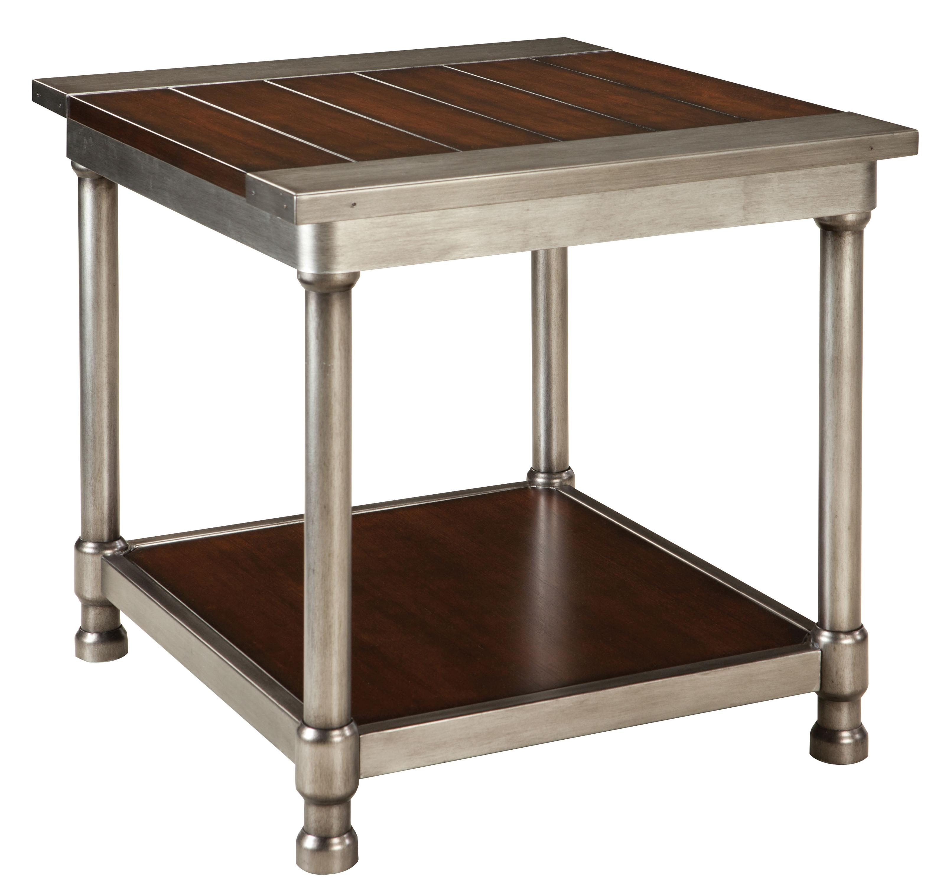 Contemporary End Tables standard furniture hudson contemporary single shelf end table with