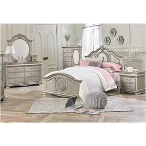 Standard Furniture Jessica Silver Twin 6-Piece Bedroom Group