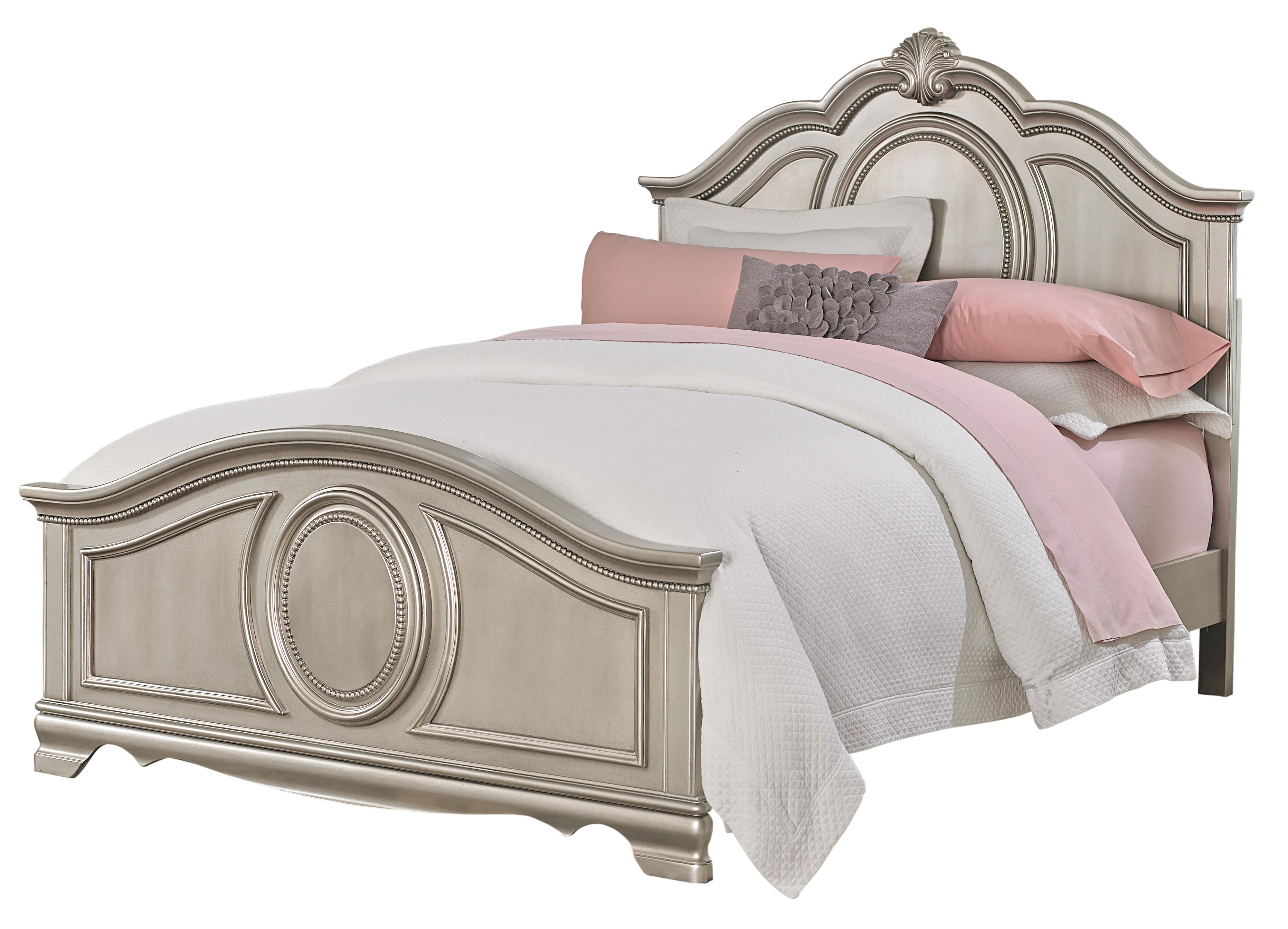 Standard Furniture Jessica Silver Full Bed - Item Number: 93552+61+63
