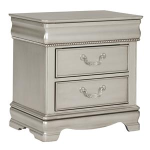 Standard Furniture Jessica Silver Nightstand