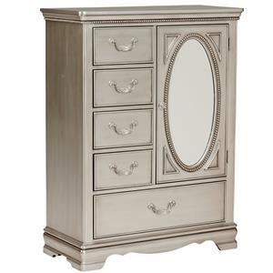 Standard Furniture Jessica Silver Wardrobe