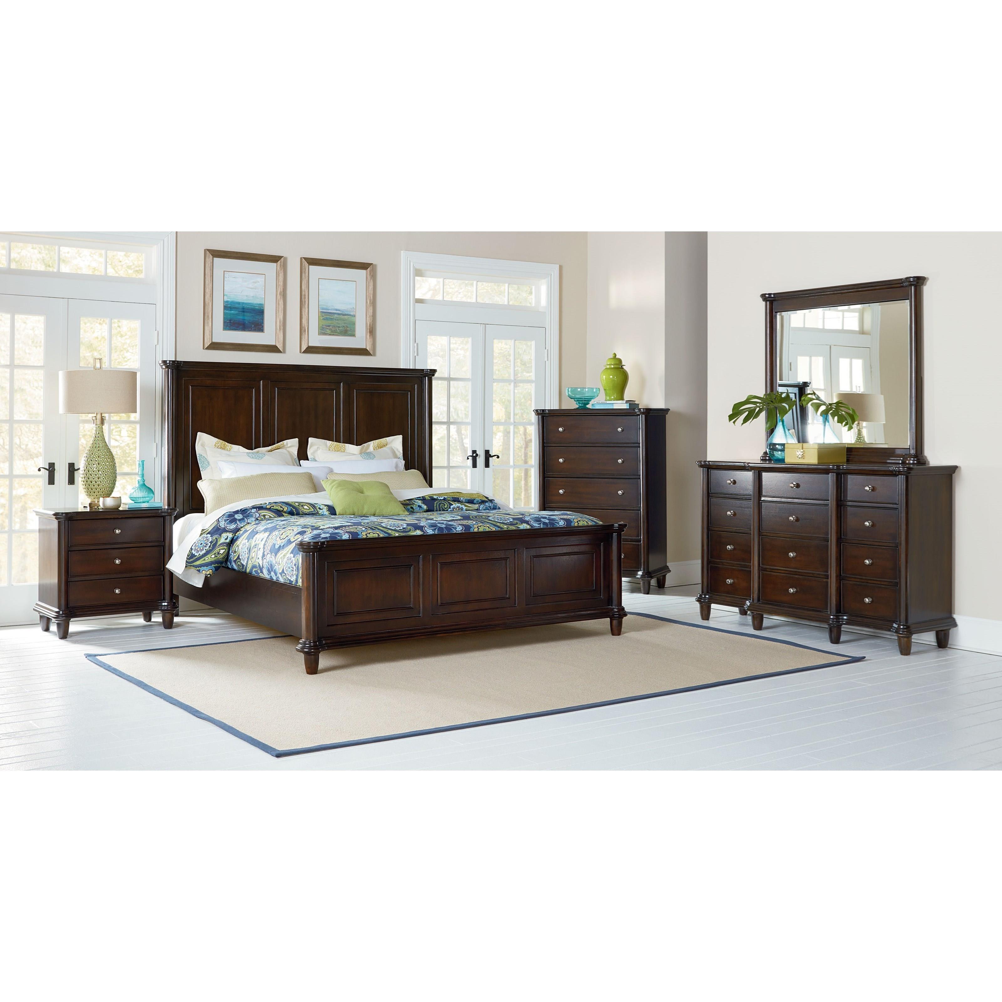 standard furniture kingsley queen 6piece bedroom group item number q 4
