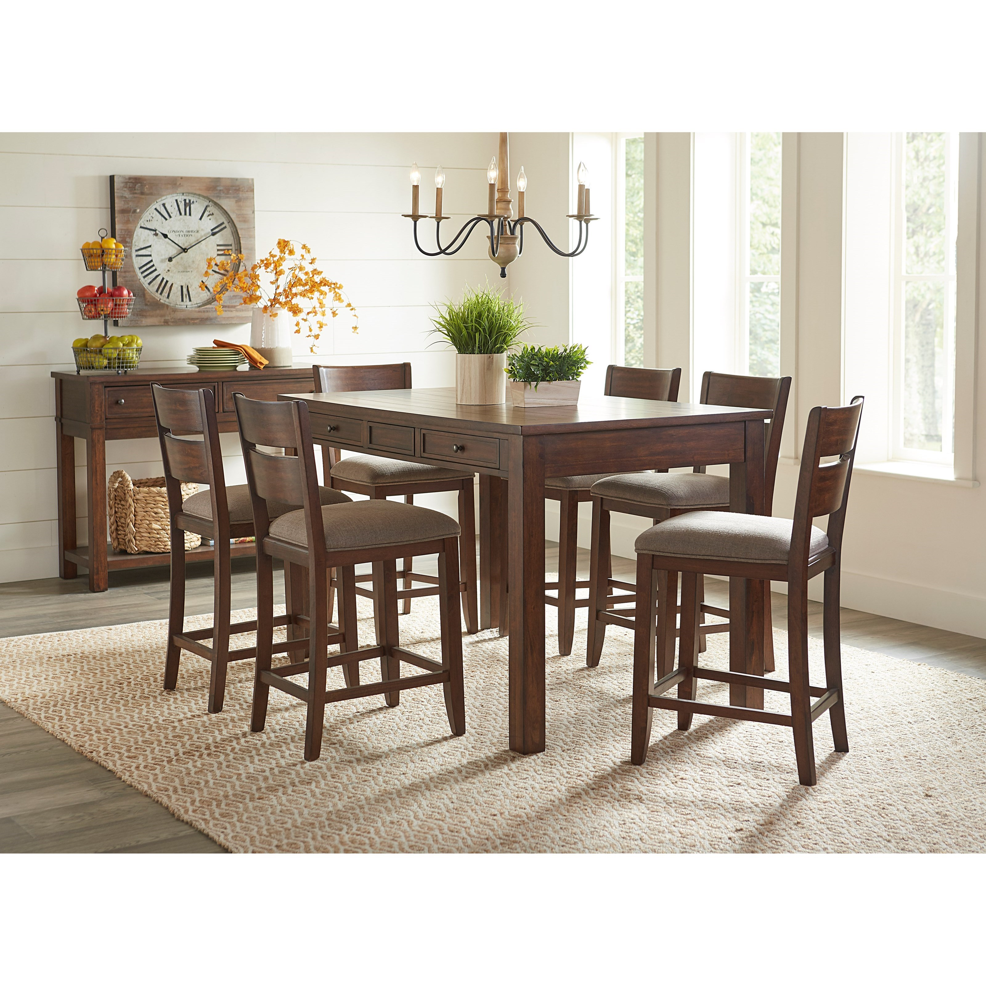 Standard Furniture Kyle Casual Dining Server With 2