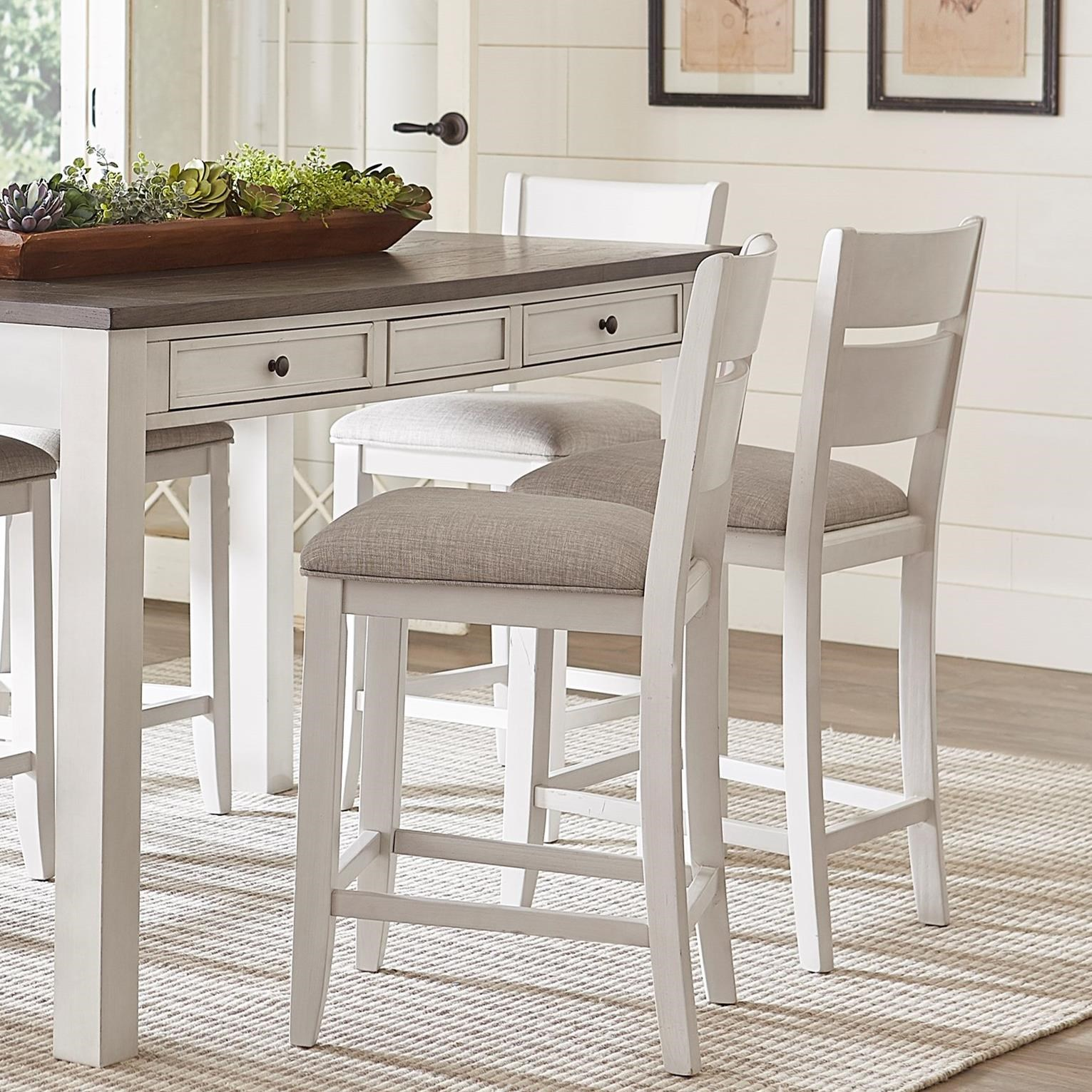 Standard Furniture Kyle Casual 5 Piece Counter Height Dining Set Adcock Furniture Pub Table And Stool Sets