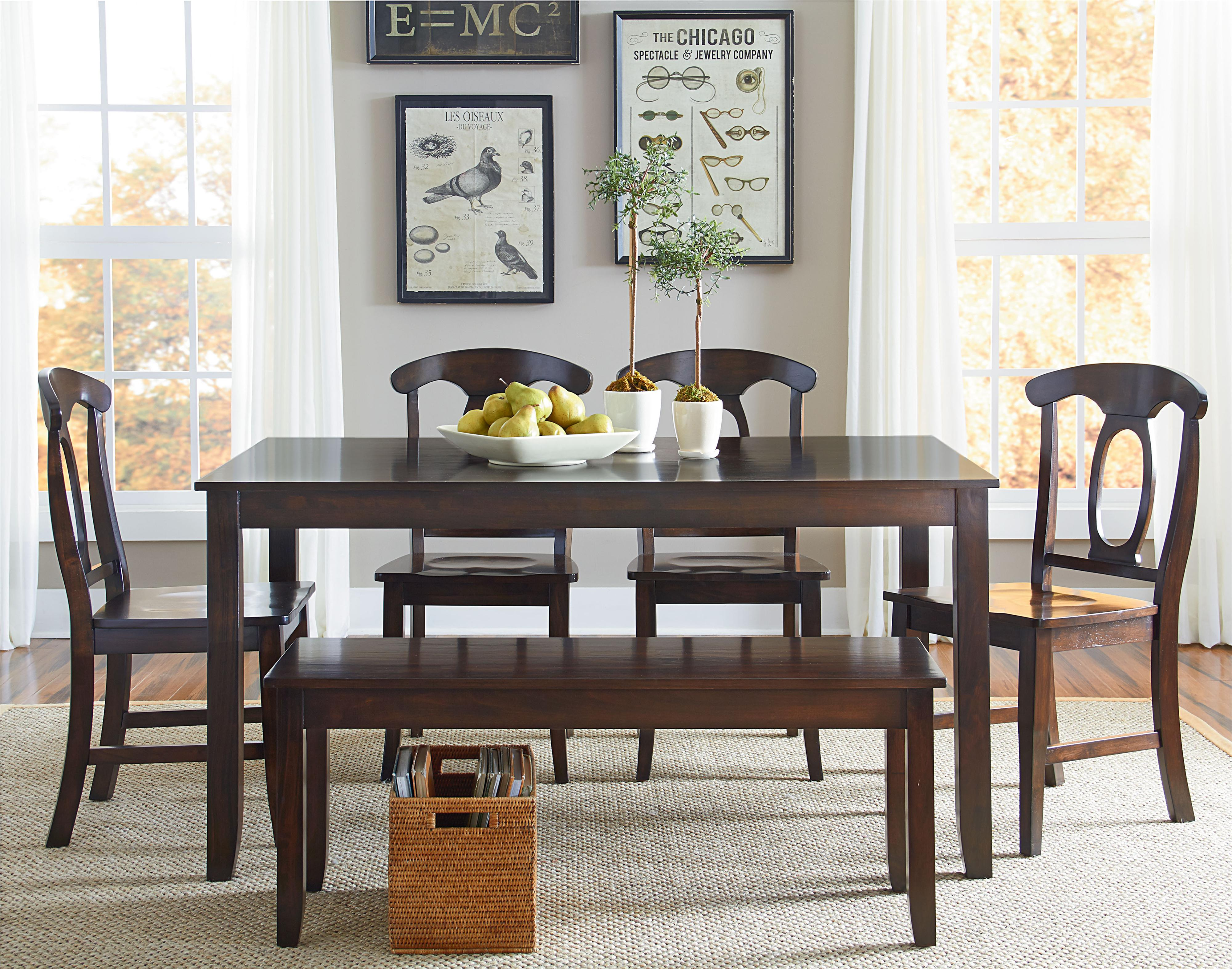 Vendor 855 Larkin 6 Piece Dining Table Set - Item Number: 15242+15245