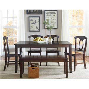 Standard Furniture Larkin 6 Piece Dining Table Set