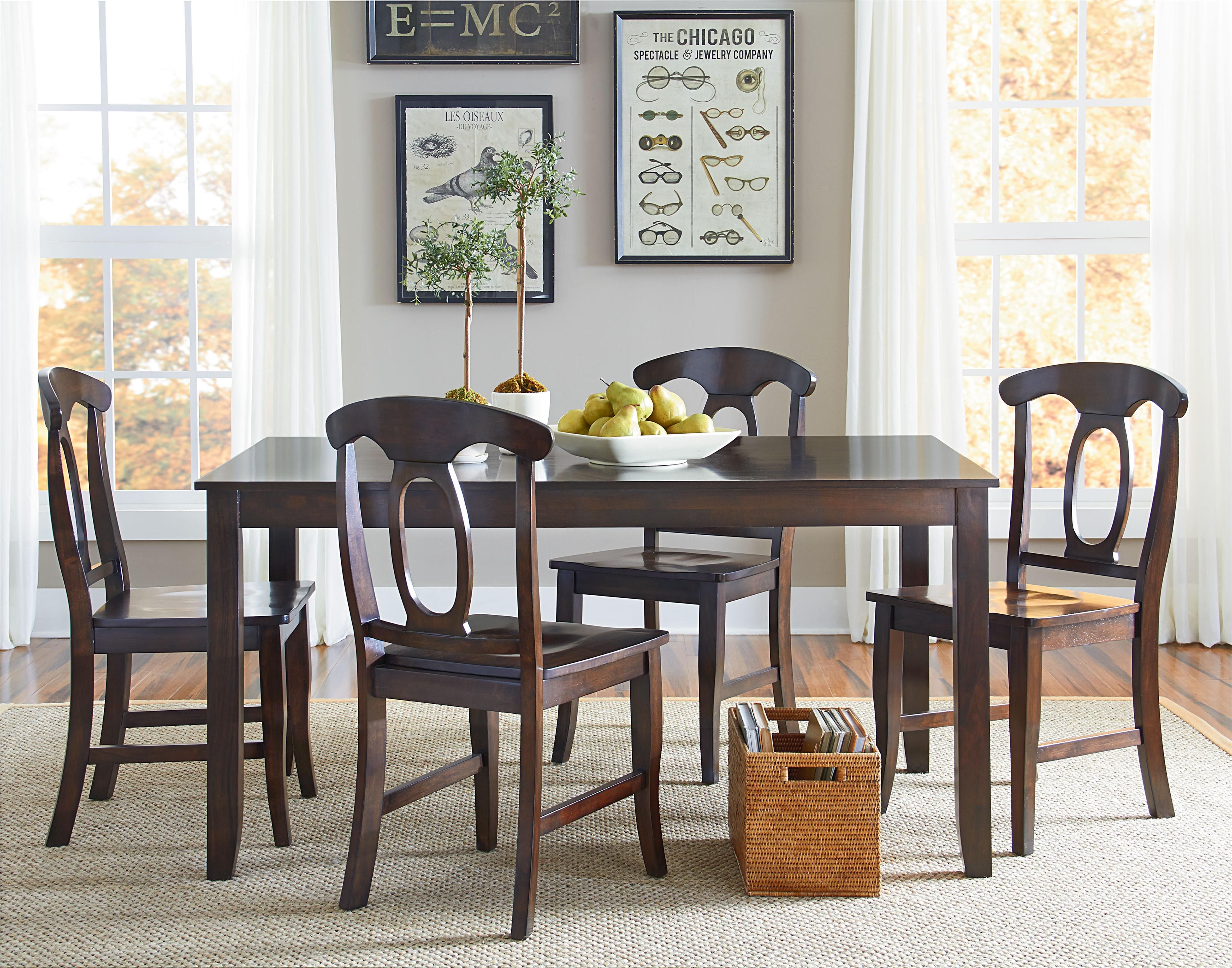 Vendor 855 Larkin 5 Piece Dining Table Set with Open Oval Splat ...