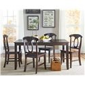 Standard Furniture Larkin 5 Piece Dining Table Set with Open Oval Splat Back Chairs