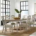 Standard Furniture Larson Light 7 Piece Table and Chair Set - Item Number: 18621+6x18624