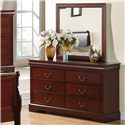 Standard Furniture Lewiston Dresser and Mirror Combination - Item Number: 80409+80408