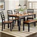 Standard Furniture Lexford Six Piece Dining Set           - Item Number: 14922+4x24+39