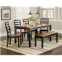 Standard Furniture Lexford Dining Bench with Cherry Seat