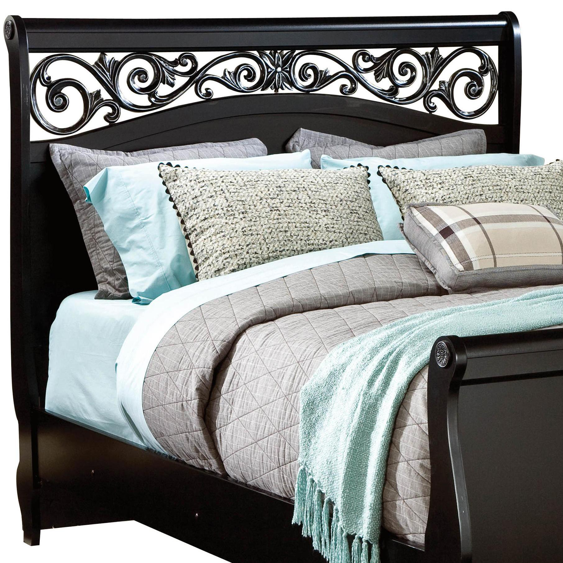 Standard Furniture Madera Queen Sleigh Headboard with Plastic Grille - Item Number: 54552