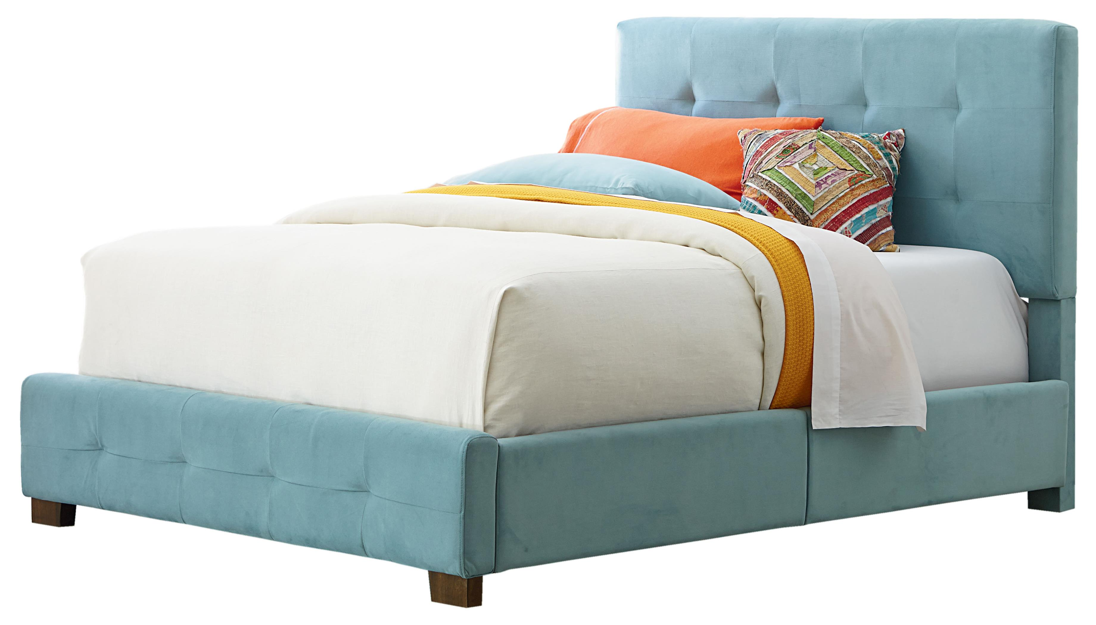 Standard Furniture Madison Twin Upholstered Bed with Short Wood Legs - Item Number: 99201