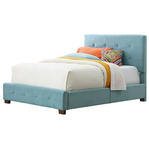 Standard Furniture Madison Twin Upholstered Bed with Tufting