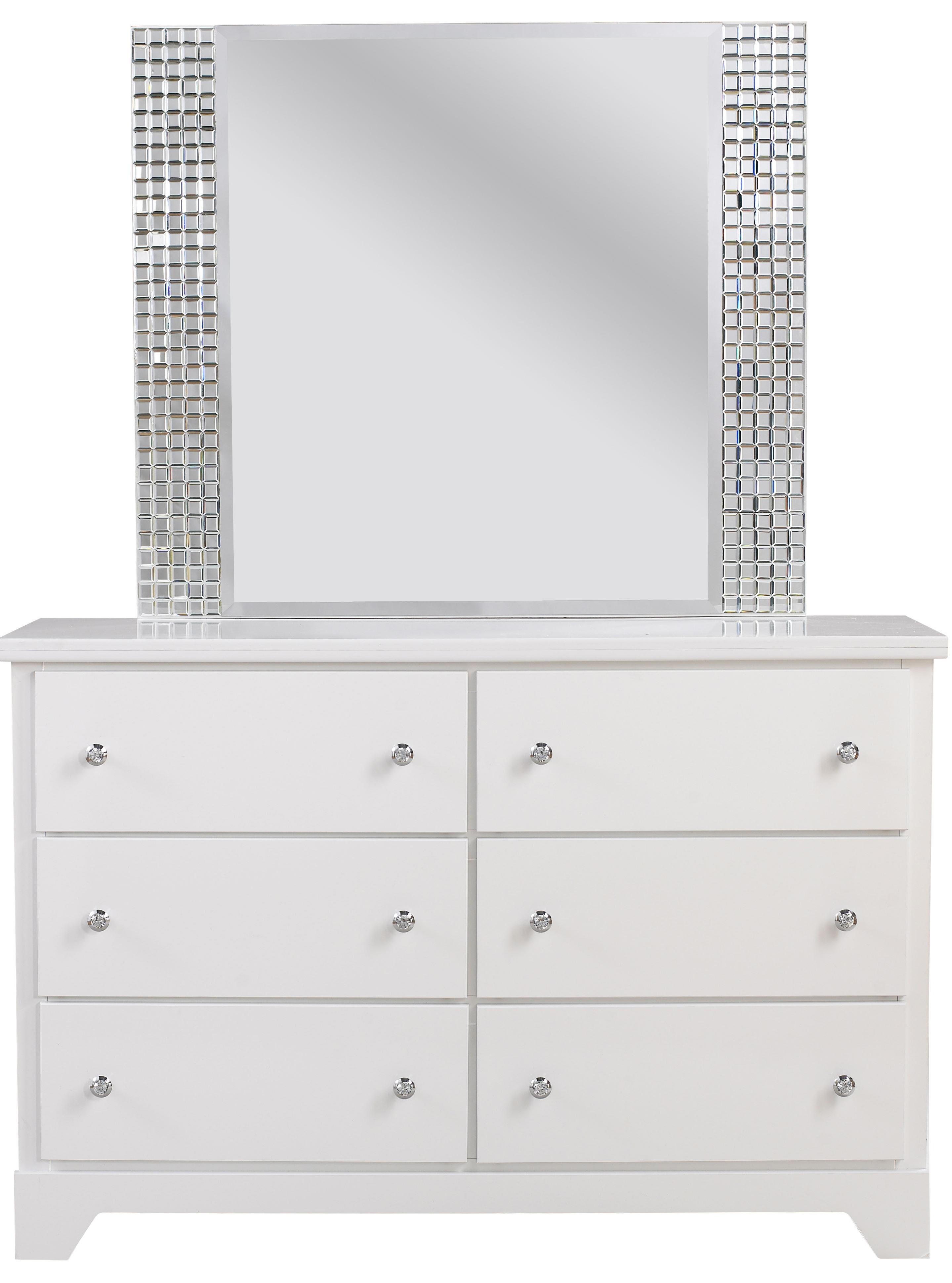 Standard Furniture Marilyn Youth Dresser & Mirror - Item Number: 66309+18