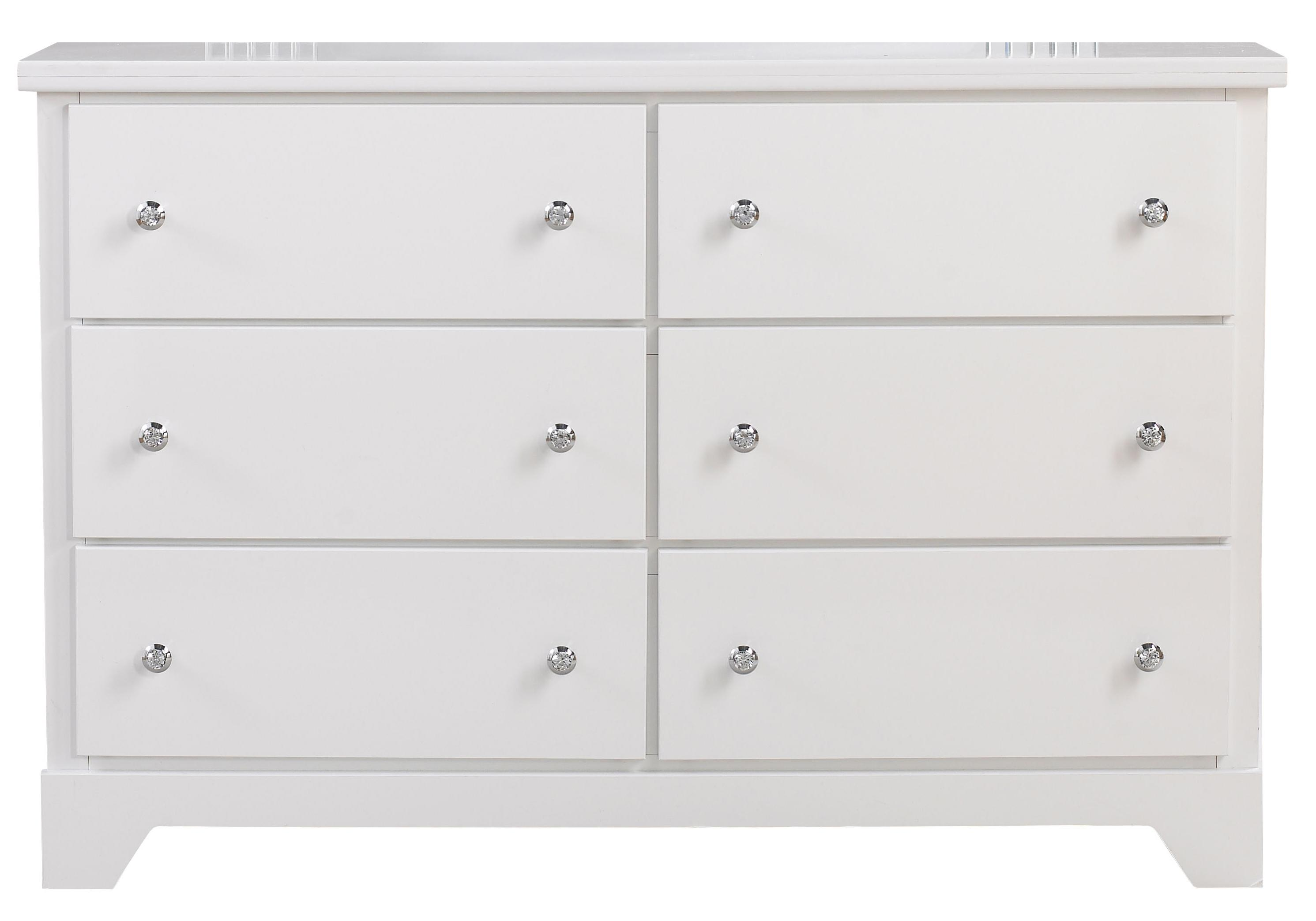 Standard Furniture Marilyn Youth White 6 Drawer Dresser - Item Number: 66309