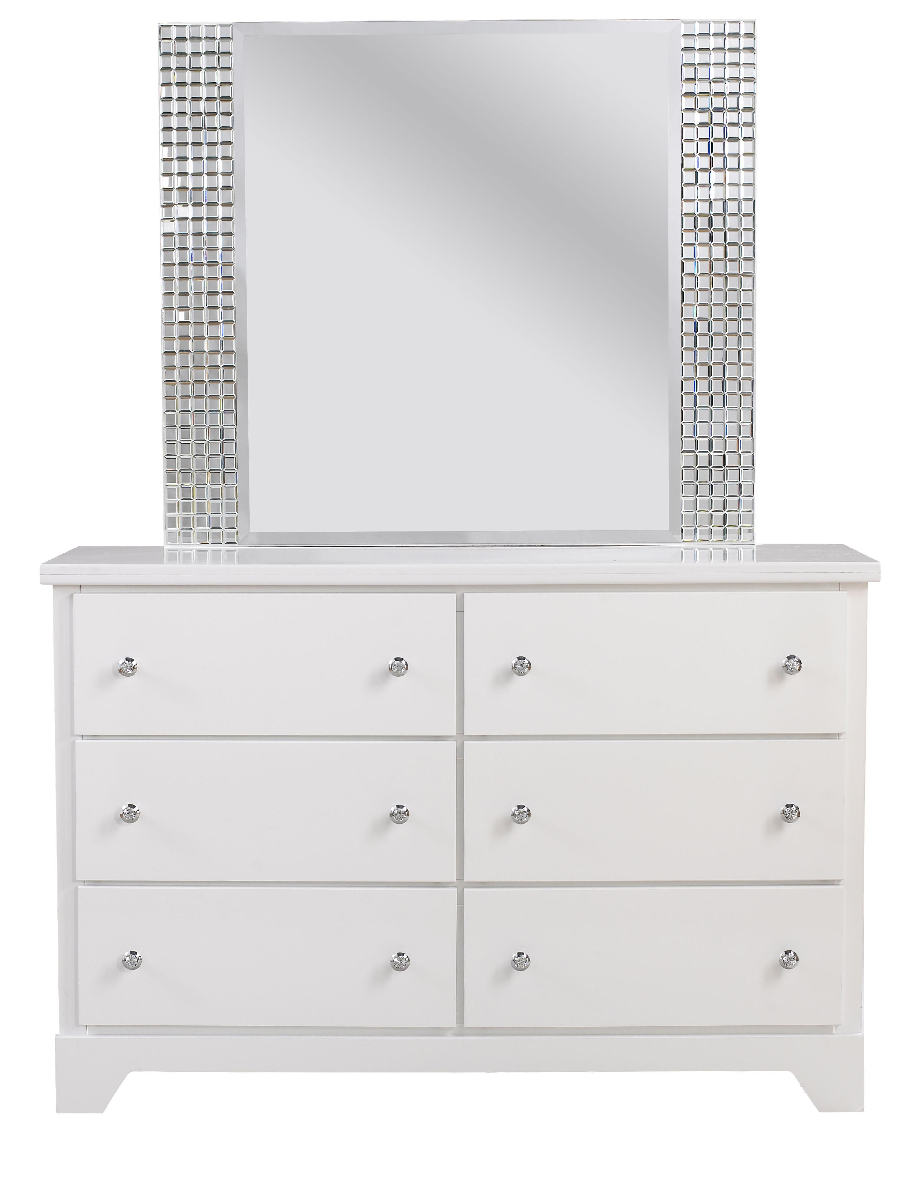 Standard Furniture Marilyn Youth Dresser and Mirror Combo - Item Number: 66309+18