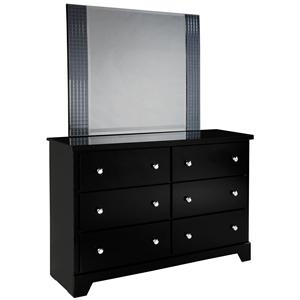 Standard Furniture Marilyn Youth Dresser and Mirror Combo