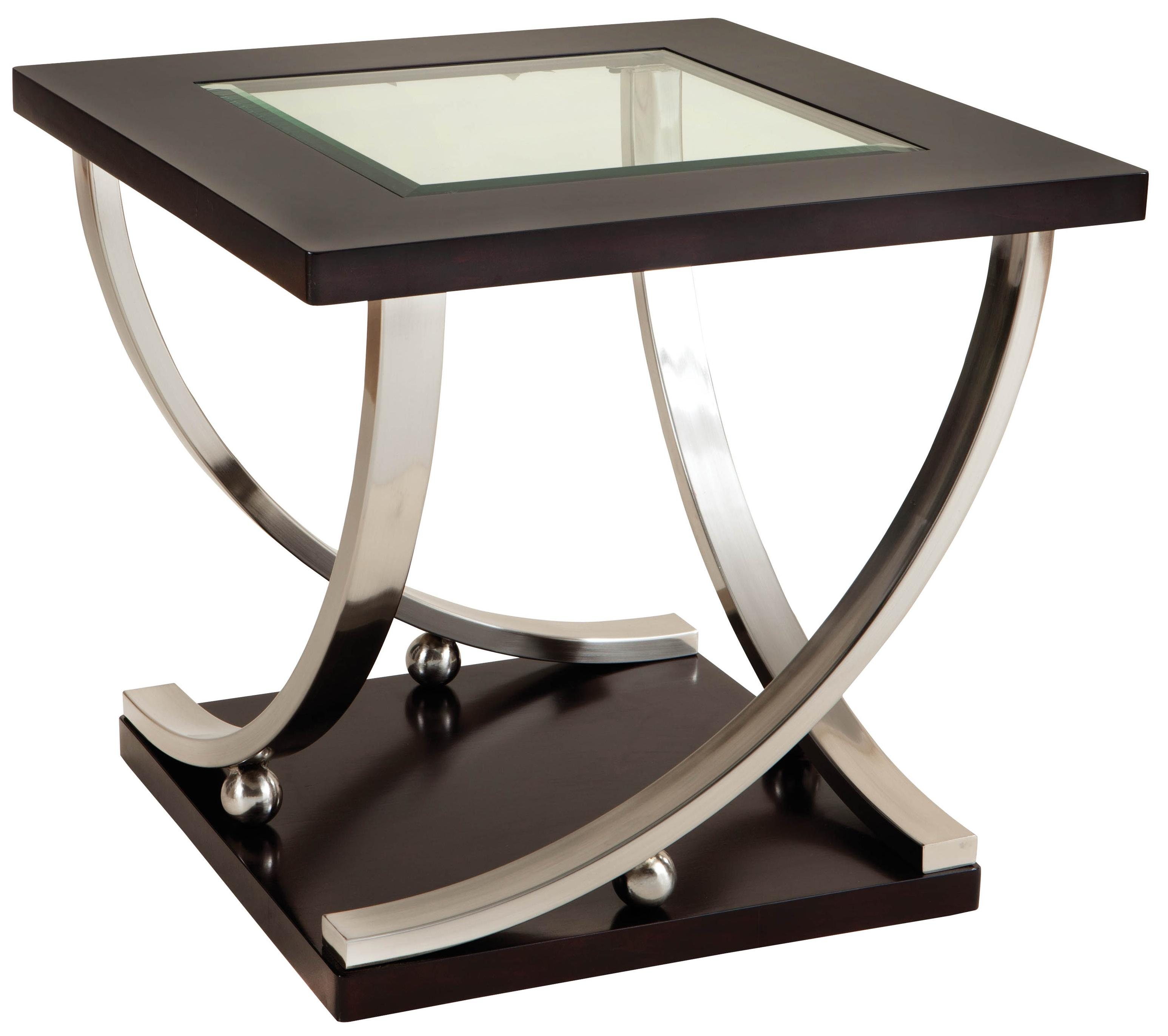 Standard Furniture Melrose End Table with Glass Top - Item Number 25922  sc 1 st  Wayside Furniture & Standard Furniture Melrose Square End Table with Glass Table Top ...