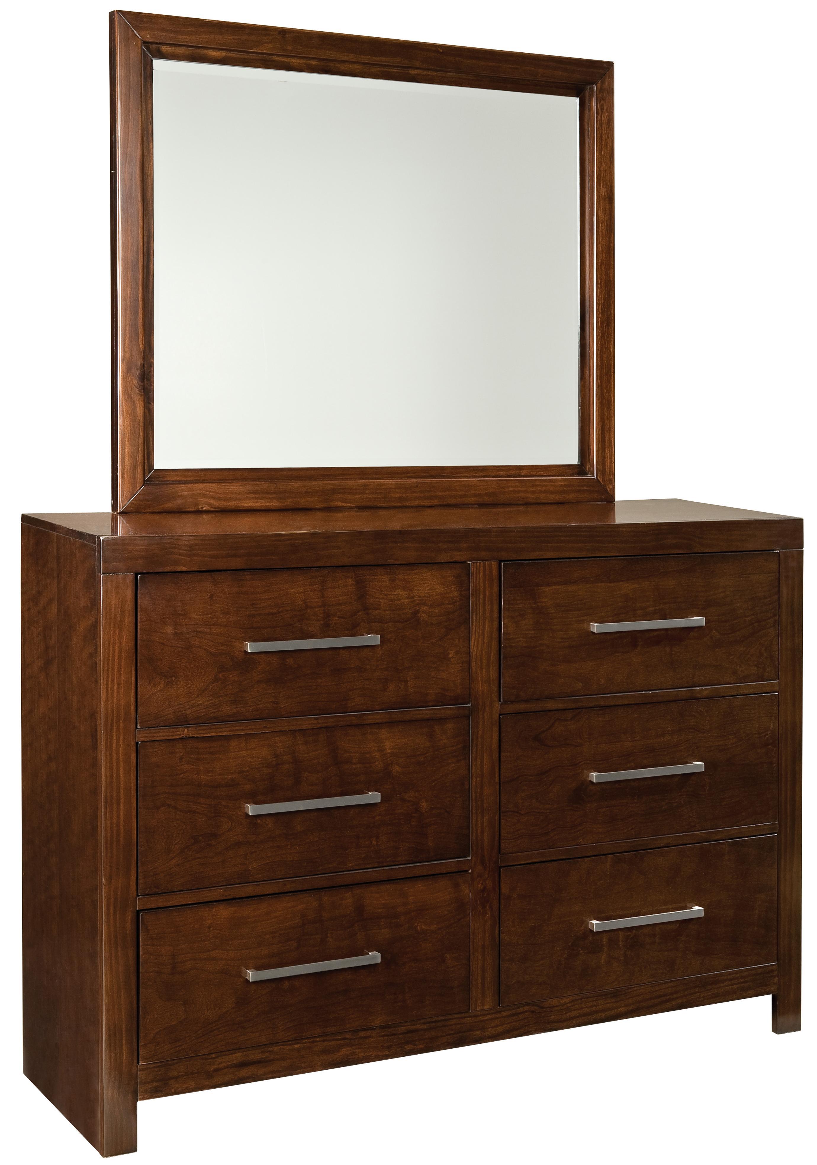 Standard Furniture Metro Dresser & Mirror Set - Item Number: 87959+58