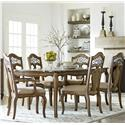 Standard Furniture Monterey 7 Piece Table and Chair Set - Item Number: 14361+2x65+4x64
