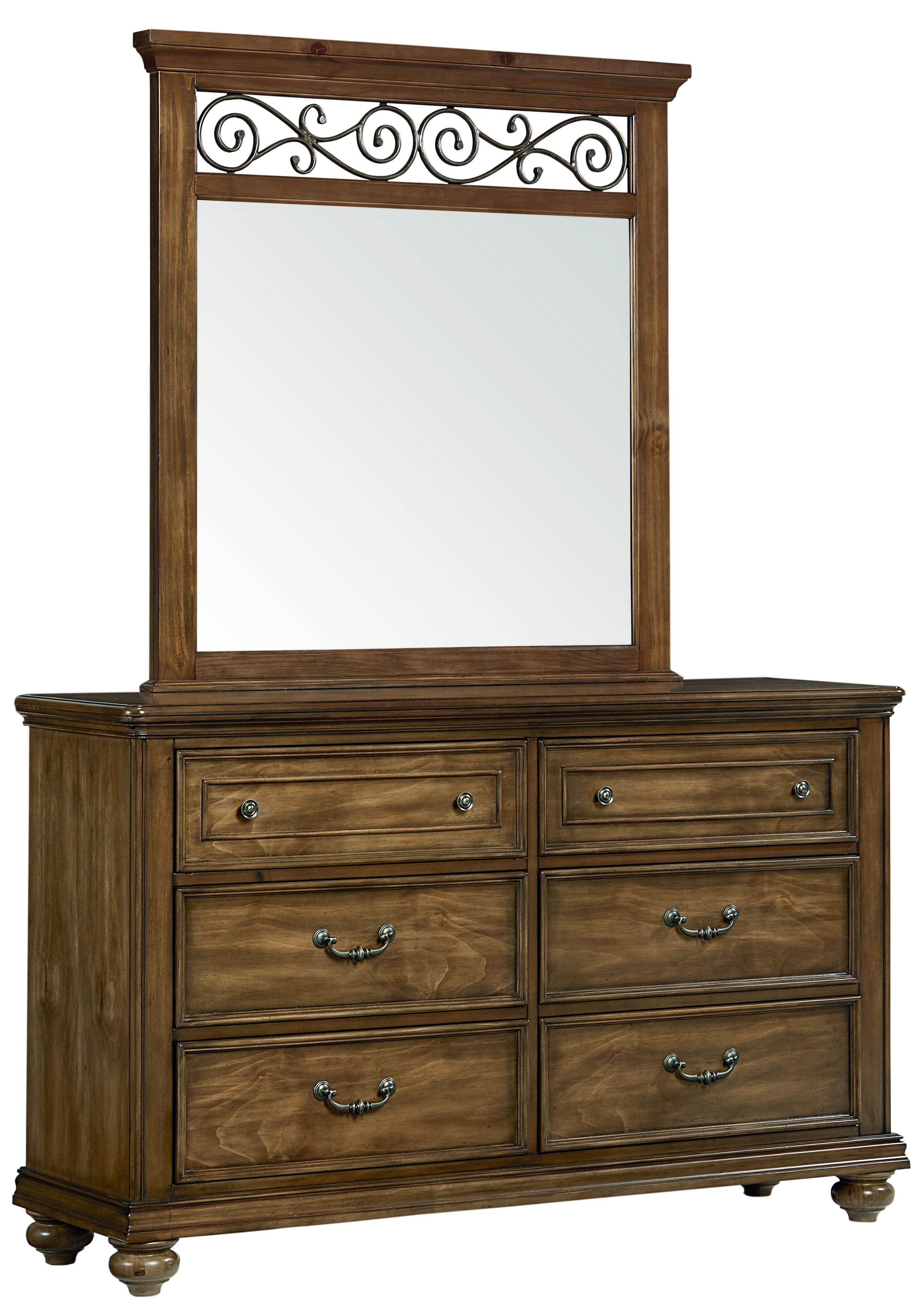 Standard Furniture Monterey Dresser and Mirror Set - Item Number: 81908+81909
