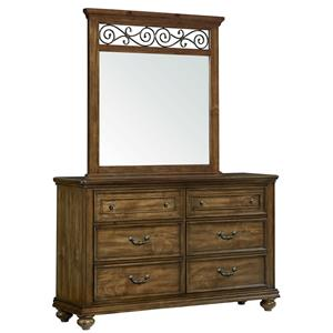 Standard Furniture Monterey Dresser and Mirror Set