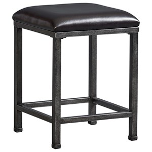 Standard Furniture Montvale Metal Stool with Upholstered Stool
