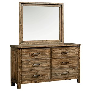 Standard Furniture Nelson Dresser and Mirror Set