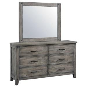 Standard Furniture Nelson Dresser and Mirror Set