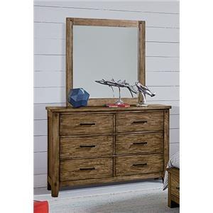 Standard Furniture Nelson Youth Dresser & Mirror