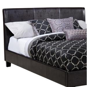Standard Furniture New York  Queen Black Upholstered Headboard