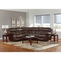Standard Furniture North Shore Reclining Sectional Sofa - Item Number: 4003211+4003041+4003221