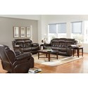 Standard Furniture North Shore Reclining Loveseat with Pillow Arms and Pub Back Headrests