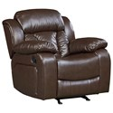Standard Furniture North Shore Rocker Recliner with Pillow Arms and Pub Headrest
