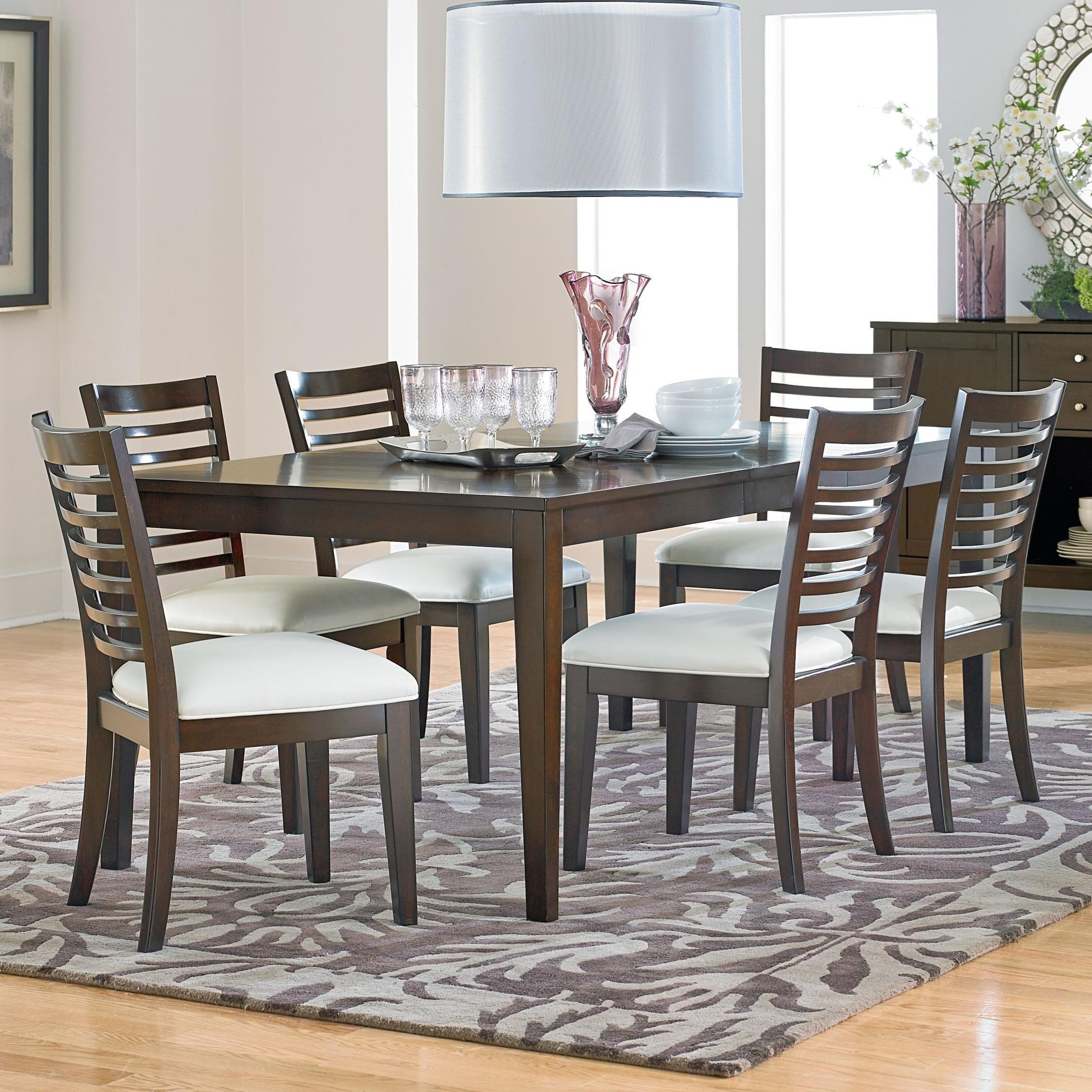Standard Furniture Noveau Dining Table and Chair Set - Item Number: 17561+6x17564