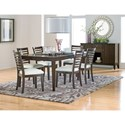 Standard Furniture Noveau Dining Table with Legs and 18