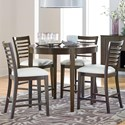 Standard Furniture Noveau Counter Height Dining Set - Item Number: 17576+4x17574