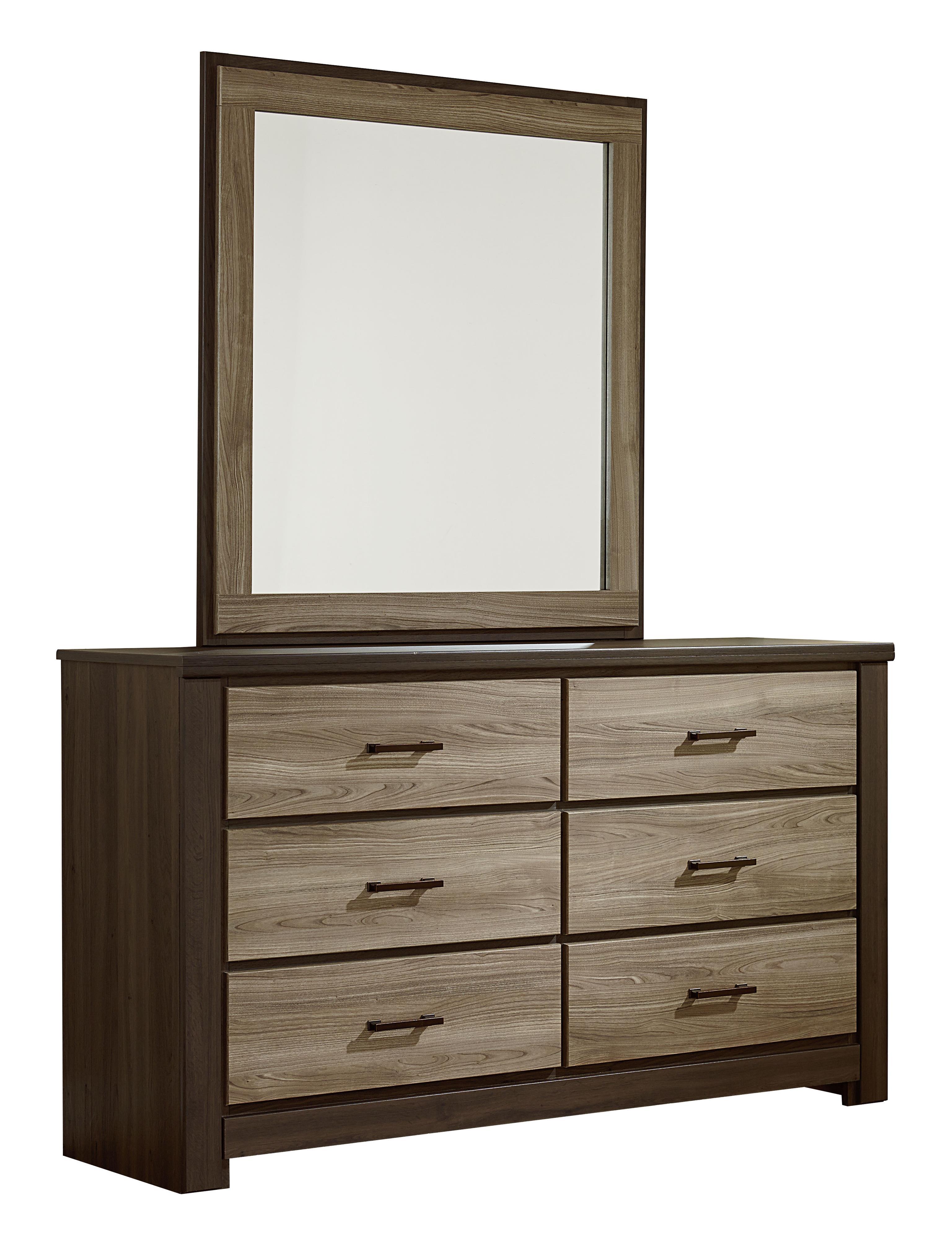 Standard Furniture Oakland Dresser and Mirror Set - Item Number: 69709+18