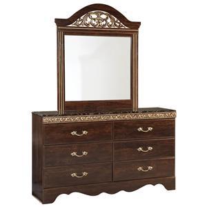 Standard Furniture Odessa Dresser & Mirror Combo
