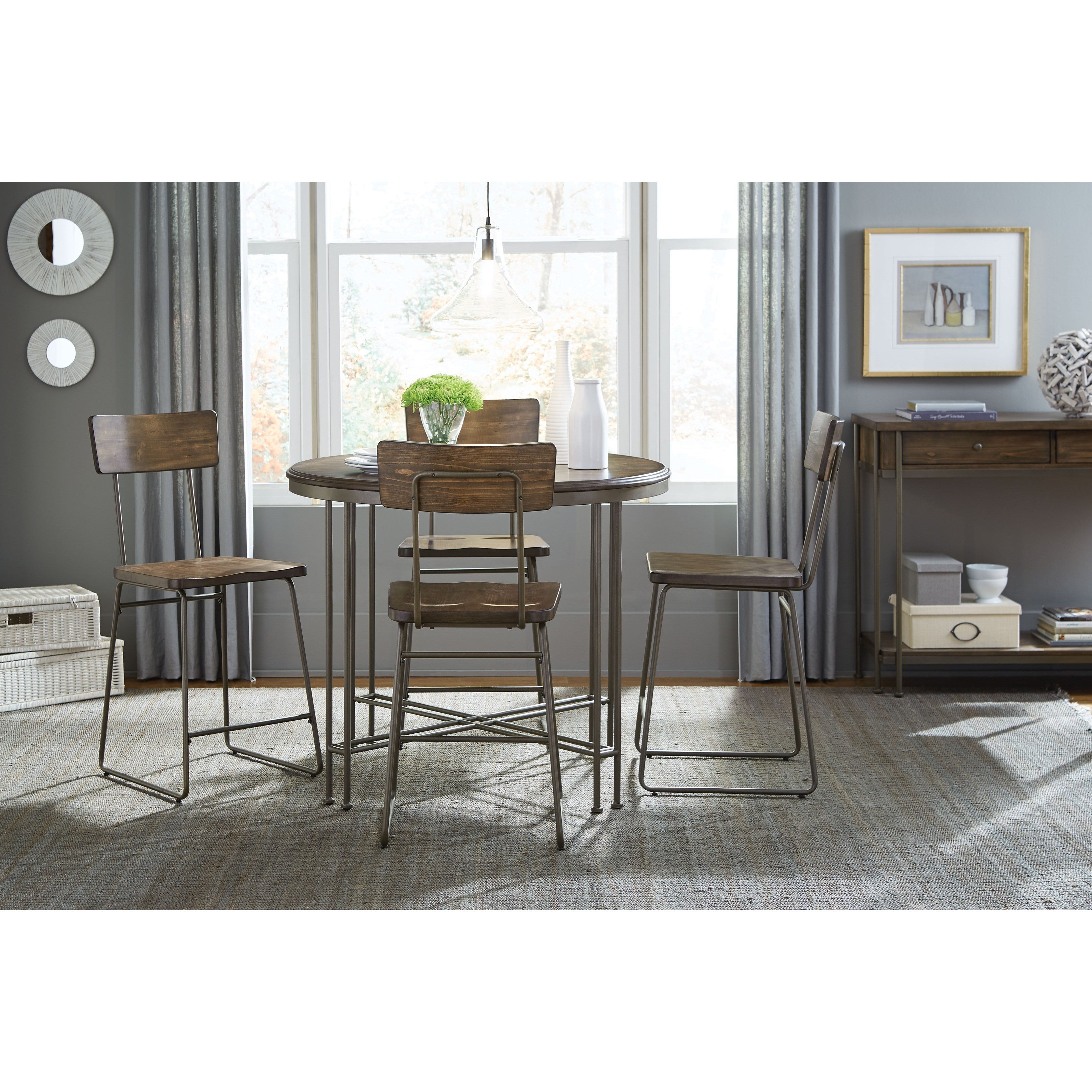 Standard furniture oslo industrial casual dining room for Casual dining room