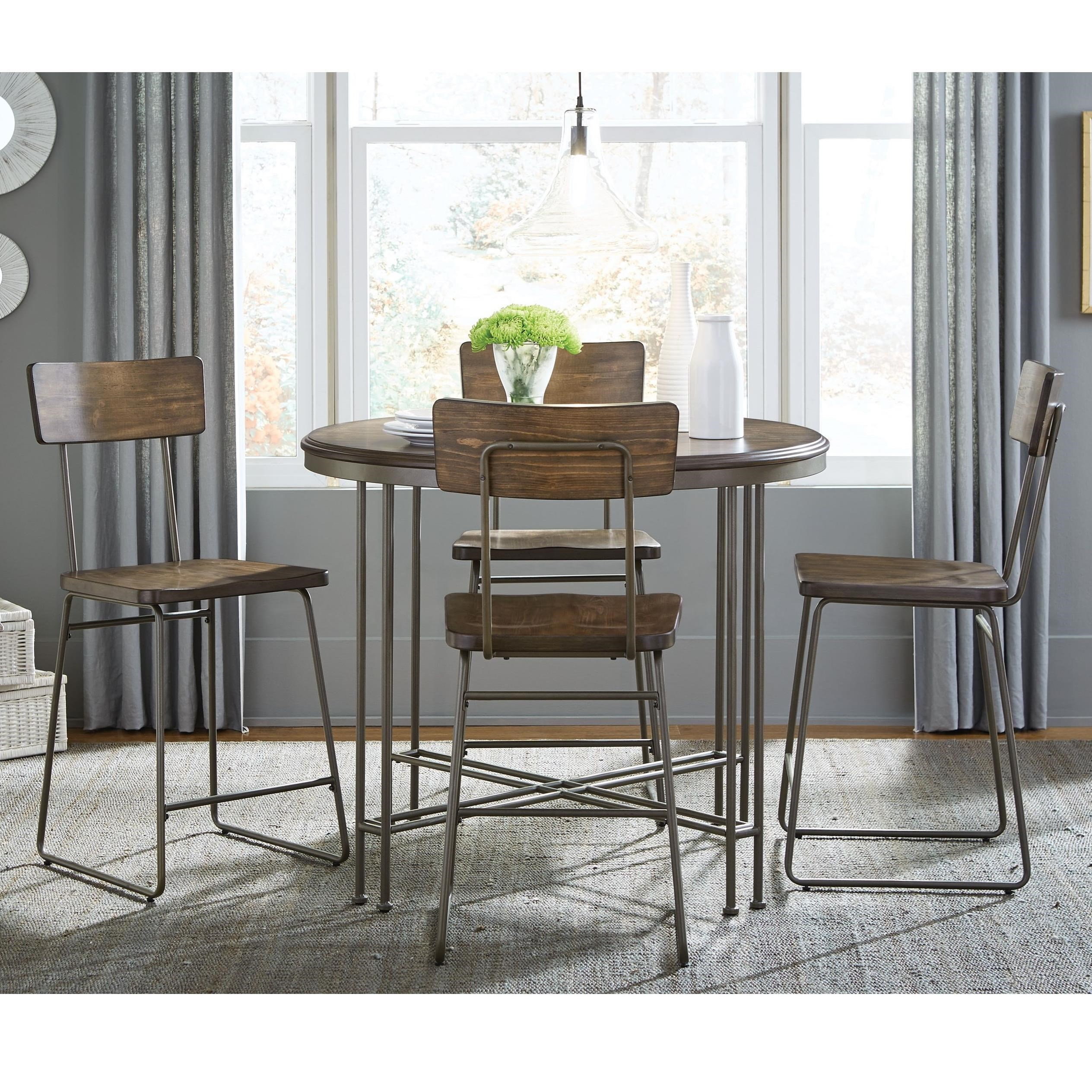 Standard Furniture Oslo Counter Height Table and Stool Set - Item Number: 11601+4x11604