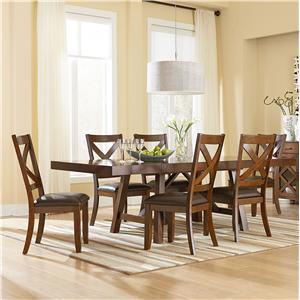Standard Furniture Omaha Brown Table and Chair Set
