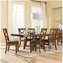 Standard Furniture Omaha Brown Table and Chair Set - Item Number: 16181+6x16184